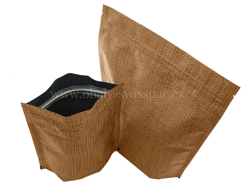 Jutové vysoké bariérové tašky