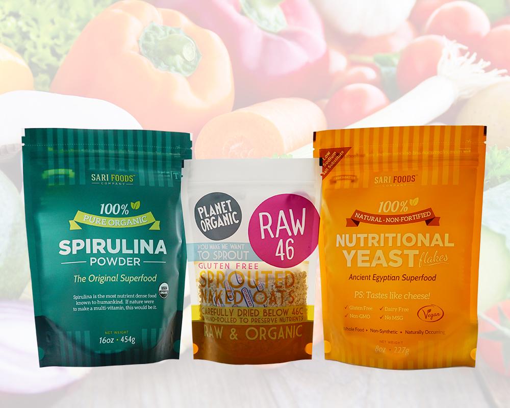 balení ekologických potravin