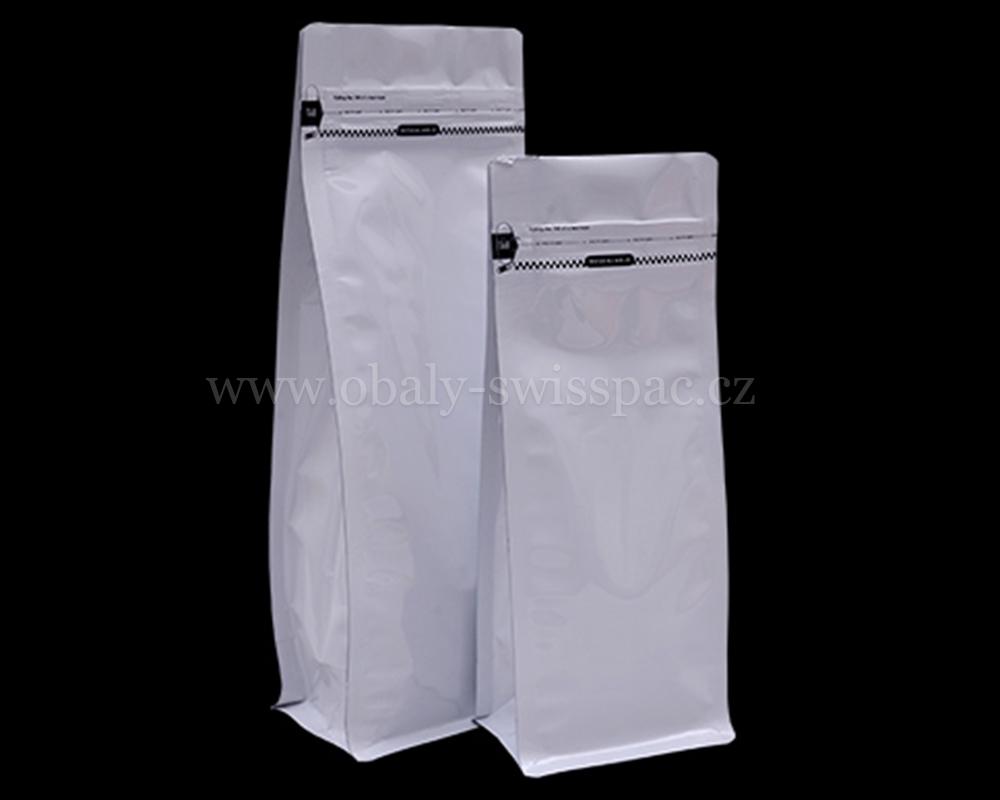 Lesklé bílé pouzdra s odtrhovacím zipem