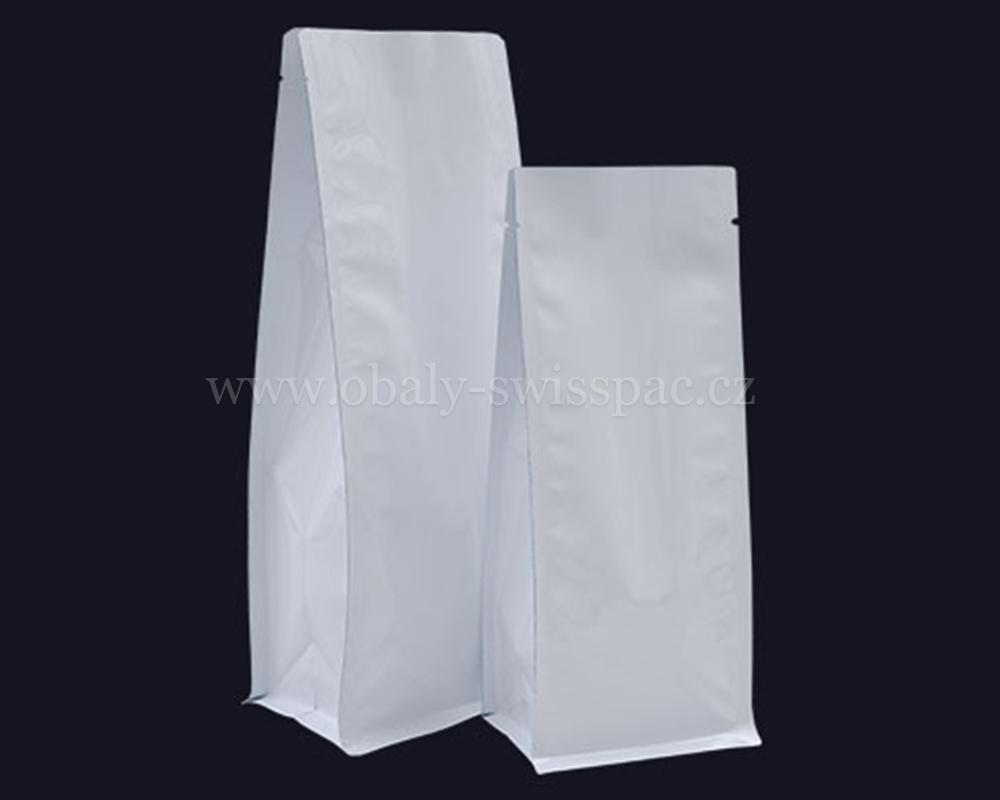 Lesklé bílé tašky bez zipu