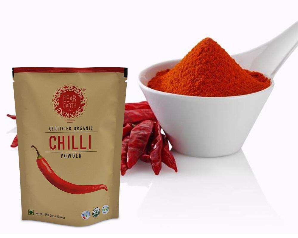 chilli prášek balení