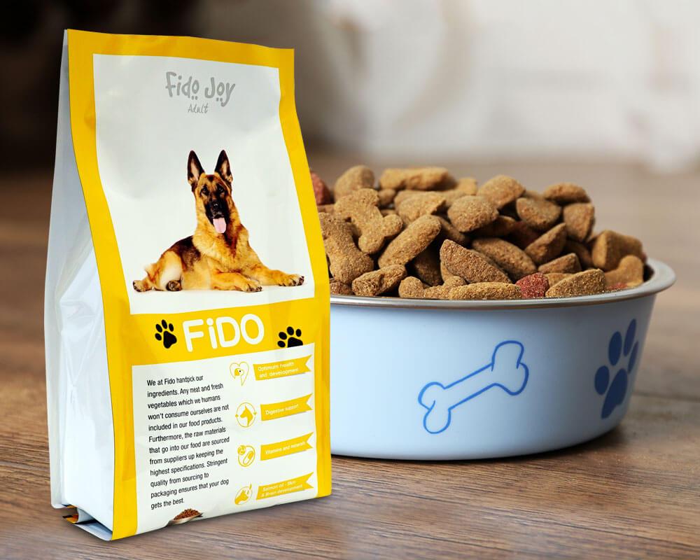 balení krmiv pro domácí zvířata